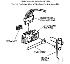 gmc brake light switch replacement replace brake light switch how to replace brake light switch on