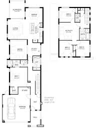 narrow cottage plans modest narrow cottage plans of home set backyard view
