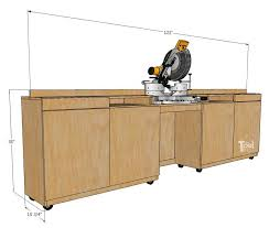 table saw station plans mobile miter saw station and storage her tool belt