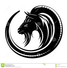 goat tribal stock vector illustration of monochrome
