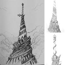 rough sketch idea for combining the ziggurat of the serpent and