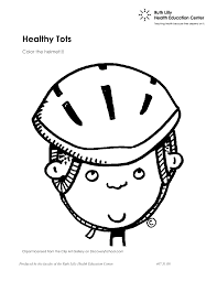 printable bike safety coloring pages at helmet page eson me