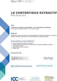 chambre internationale de commerce arbitrage le contentieux extractif pdf