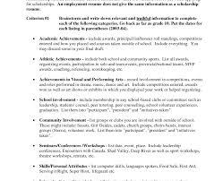 Lifeguard Resume Sample by Classy Ideas Scholarship Resume 15 Examples Of Resumes Job Resume
