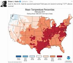 Usa Climate Map by 60 Mph Gust Yesterday Ties March Record February Flashback