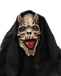 silver skull halloween mask zagone studios 3 piece skull hell met halloween mask bone
