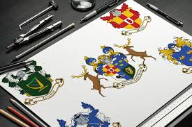 coat of arms designed for the kilcroney castle camp ireland