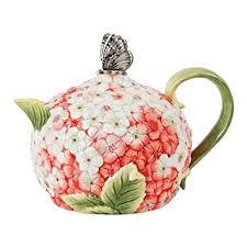 fitz and floyd fitz and floyd 20 323 hydrangea teapot tea sets