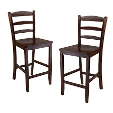 amazon com winsome 24 inch counter ladder back stool set of 2