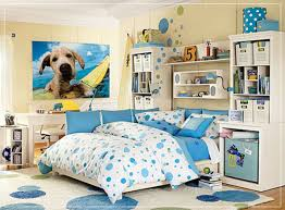 White And Blue Bedroom Bedroom Fancy Ideas In Decorating Teenage Bedroom With Blue Polka