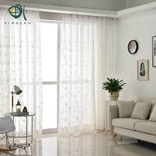cuisine romantique sinogem pastorale style floral blanc fil tulle fenêtre rideaux pour