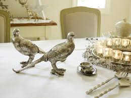 pair of silver peahens