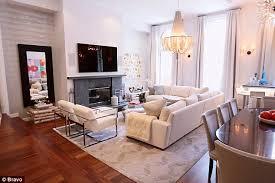 livingroom soho bethenny frankel gives tour of newly renovated soho apartment on