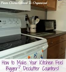 How To Organise A Small Kitchen - tips to declutter counters to make your kitchen feel bigger