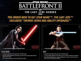 star wars battlefront ii pre order bonuses game preorders