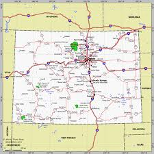 map of colorado by population colorado physical map