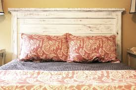 love the distressed look of this headboard headboard ideas