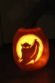 decorating ideas inspiring decorative shape lighted bat pumpkin