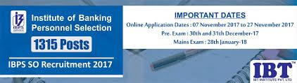 ibps so 2017 ibps so notification 2017 ibps so exam date
