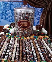 Wholesale Pretzel Rods Amazon Com Chocolate Covered Pretzel Rods Assorted Colored Theme