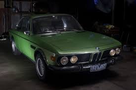 bmw e9 coupe for sale 1973 bmw 30csl lightweight taiga green e9 coupe for sale front