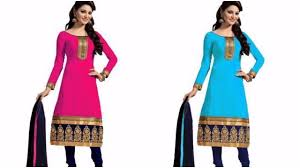 latest embroidered chanderi chiffon dress material designs youtube