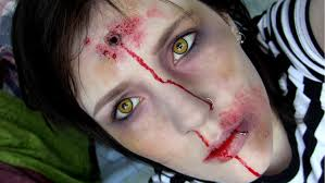 How To Do Halloween Makeup Zombie by Bullet Wound U0026 Bruised Up Zombie Halloween Make Up Tutorial