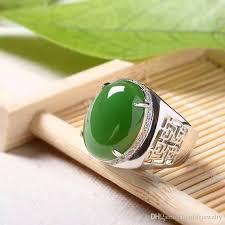 natural gemstones rings images 2018 chinese style green jade man 39 s ring 12 16mm natural jade jpg