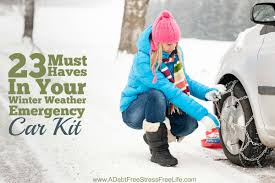 23 must haves in your winter weather emergency car kit
