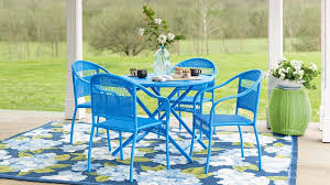 Dining Room Folding Chairs Colored Wicker Table Set Outdoor Furniture Plow U0026 Hearth