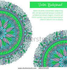 Oriental Design Vintage Template Design Vector Illustration International Stock
