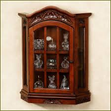 Kitchen Curio Cabinet Charming Kitchen Wall Mounted Curio Cabinet Come With Rectangle