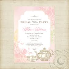 party invitations new tea party bridal shower invitations ideas