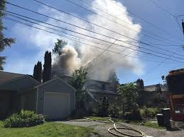 lexus north seattle smoke seen for miles as home burns in north seattle komo