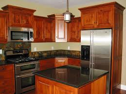 Cherry Red Kitchen Cabinets Kitchen Beautiful L Shape Small Open Floor Plan Kitchen