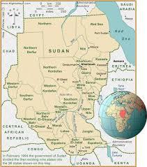 africa map khartoum sudan map