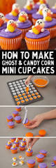 Halloween Cupcakes Ghost How To Make Ghost U0026 Candy Corn Mini Cupcakes These Mini Cupcakes