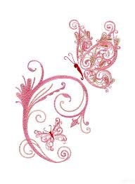 fanciful butterflies embroidery designs