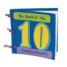 my book of the ten commandments craft kit 10 commandments craft