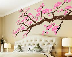 large cherry blossom flower butterfly tree wall stickers art decal