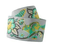 mint green ribbon buy ribbons mint on grey chipmunk tula pink renaissance ribbons