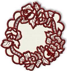 cutwork lace rose wreath doily bordado pinterest wreaths