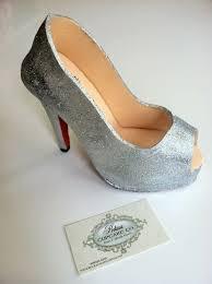 fondant shoe christian louboutin inspired famous glitter stiletto