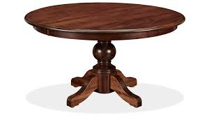 Round Dining Room Table With Leaves Baytown Asbury Maple 54