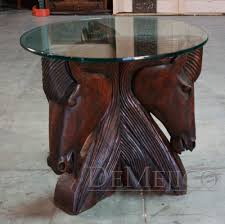 Western Home Decor Ideas by Hand Carved Horsehead Tables Rustic And Western Home Decor Ideas
