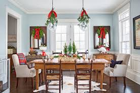 Dining Room Designs With Simple And Elegant Chandilers by 100 Country Christmas Decorations Holiday Decorating Ideas 2017