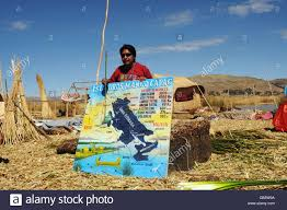 Lake Titicaca Map A Uros Islands Tour Guide Showing A Large Map Of Lake Titicaca