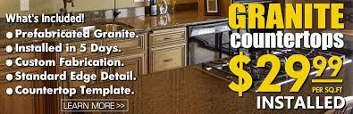 Prefab Granite Kitchen Countertops by Kitchen Granite Countertops On Sale 29 99 Sq Ft Installed