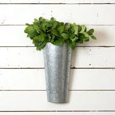 Galvanized Decor Wall Ideas Metal Wall Vases For Flowers Galvanized Sheet Metal