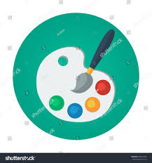 Painting Icon Color Palette Flat Vector Icon That Stock Vector 500974462